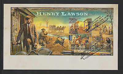 Australia 2017 : Henry Lawson 1867 - 1922, First Day Cover with Minisheet,