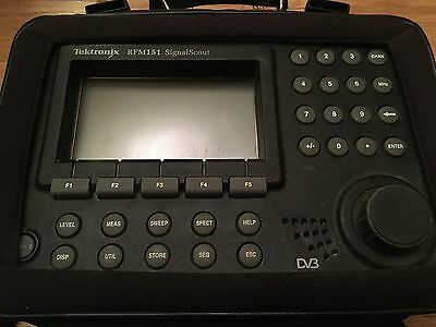tektronix rfm151 signal scout - used, works great - good condition - with case -