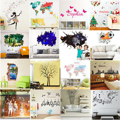 Pegatina de Pared Vinilo Mural Decal Decoración Hogar Adhesivo Removible Decal