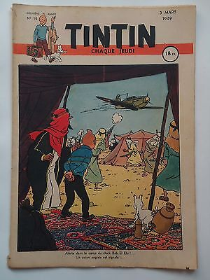 JOURNAL TINTIN n° 19  COUVERTURE DE HERGE  03/03/1949