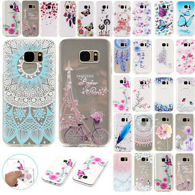 For Samsung Galaxy S7 Edge S8 Clear Soft TPU Silicone Ultra Slim Case Cover Skin