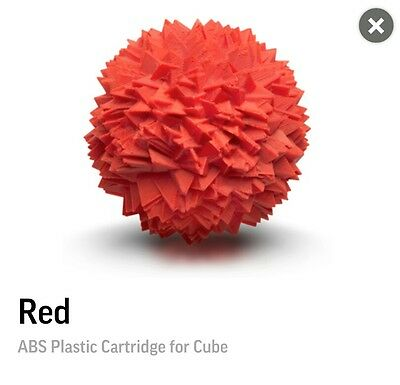 3D Systems Cube 3 Red ABS Filament Cartridge For 3D Printing
