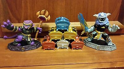 Skylanders Imaginators Sensei Mysticat and Wild Storm and 6 Chests LOT Rare Bulk