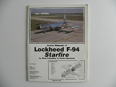 Livre aviation militaire en anglais Lockheed F-94 Starfire