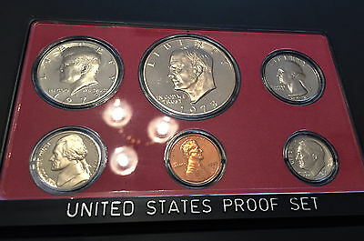 1973 UNITED STATES (US) 6 Coin PROOF SET ** 1st Year with the EISENHOWER Dollar