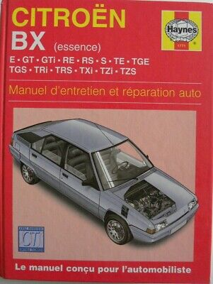 revue technique automobile RTA manuel HAYNES CITROEN BX essence
