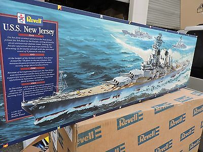 REVELL 1/350th SCALE USS NEW JERSEY ( # 5214  ) NO ASSMBY INSTRUCTIONS