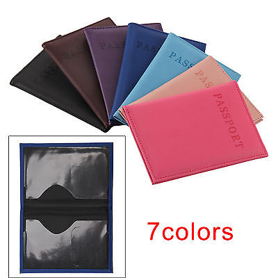 Passport Cover Holder Case ID Card Travel Trip Faux Leather Protector Organiser