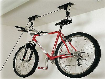Bicycle Bike Ceiling Storage Rack Pulley 30 KG Basement Garage Loft Space Cycle