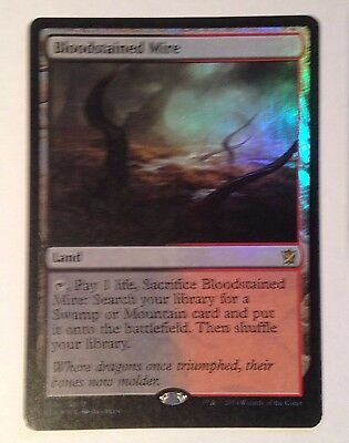 Bloodstained Mire FOIL -  Khans of Tarkir NM Rare MTG Magic the Gathering