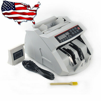 Currency Counter Machine Bill Cash Money Dollar Counting Counterfeit Detector