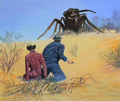 Original Painting on Canvas Acrylic Landscape sci fi Them ant Jane Ianniello