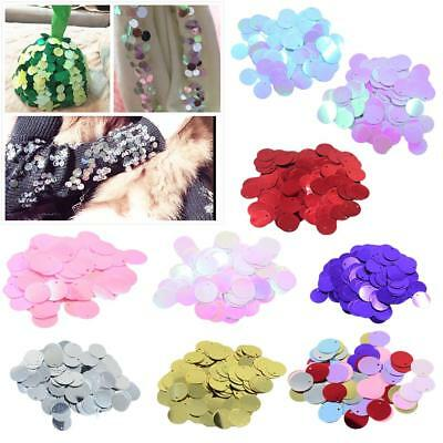 DIY Shiny Round Loose Sequins Paillettes Garment Sewing Craft 16mm