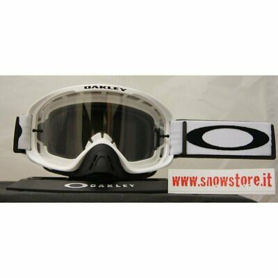 Oakley O2 Mx Matte White Clear Mask New Mtb Downhill Cross Enduro Moto