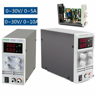 Adjustable Regulated DC Power Supply Output 30V 5/10A Variable 3 Digital Display