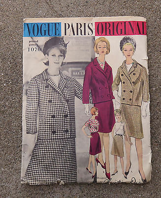 Original 1950s -  1960s  Vogue Paris Original Pattern Suit & Blouse Dior 34