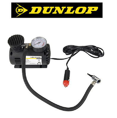 air compressor portable 12V DUNLOP Mini air pump tire plug cigarette lighter