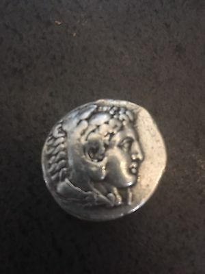 Rare Alexander The Great Silver Coin Brilliant Detail