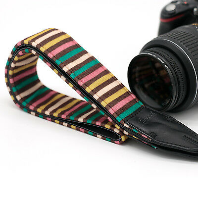 Stripes DSLR Camera Shoulder Neck Belt Strap For Canon Nikon Sony Pentax LE-07