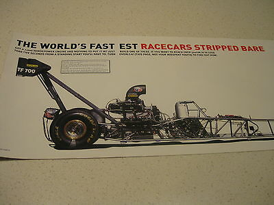Drag Motor Racing Car Poster-Huge 900Mm Holden Ford Toyota V8 Drift Ferrari