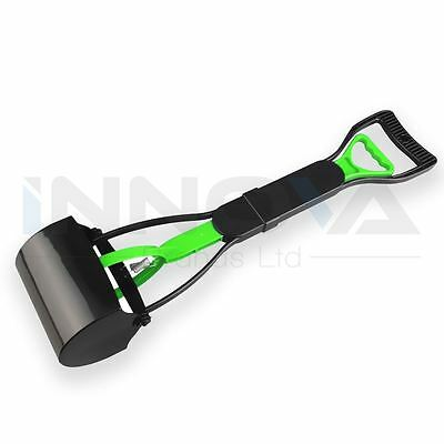 Pet Dog Waste Easy Pickup Pooper Walking Poo Poop Scoop Grabber Picker Green