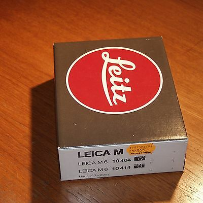 empty vintage box carton for Leitz LEICA M6 CAMERA made in GERMANY 1986