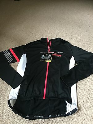 Polaris RBS Velo Long Sleeve Cycling Jersey Black and Pink Size S  Brand New
