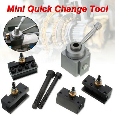 Quick Change Tool Post Turning Parting Off Holder Set for 7 x10 12 14 Mini Lathe