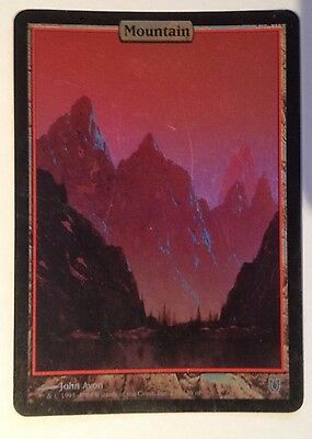 Mountain Full Art Foil - Unhinged NM Mtg Magic The Gathering