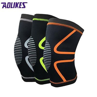 Knee Wraps Weight Lifting Bandage Straps Guard Pads Powerlifting Pair Gym Sports