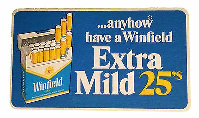 * WINFIELD BLUE COASTER * EXTRA MILD 25's * NEVER USED * ANYHOW * FREE POSTAGE *
