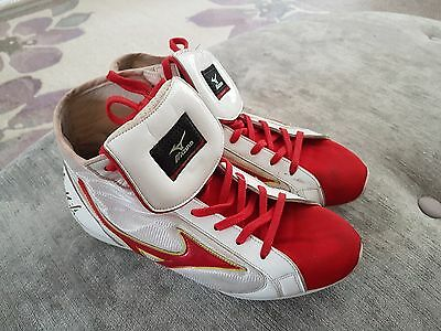Frankie Gavin v Kell Brook fight worn boots signed