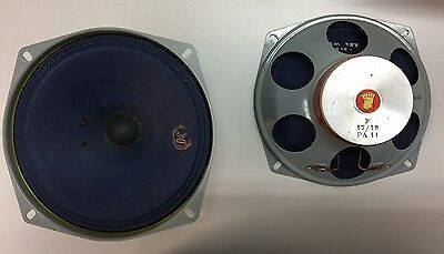 Very Rare Vintage Nos Audax F17 Pa11 Full Range Speakers Boxed One Pair