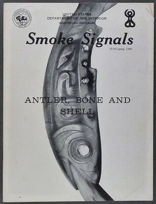 Native American Antler, Bone & Shell Work in Smoke Signals, Spring 1968 Issue