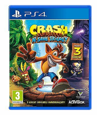 Crash Bandicoot N. Sane Trilogy Ps4 Italiano Nuovo Playstation 4