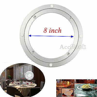 "8"" Lazy Susan Rotating Metal Bearing Swivel Turntable Plate For Rack Table Desk"
