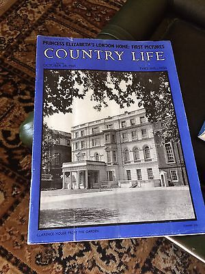 Country Life Royal Clarence House 1949 Queen Elizabeth