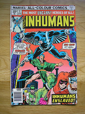 MARVEL COMICS  INHUMANS  VOL1 No. 5 1976 LOVELY CONDITION