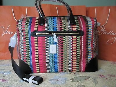 Vera Bradley NWT Travel Duffel Bag ~ Cha-Cha with Black ~ Streeterville ~ Large