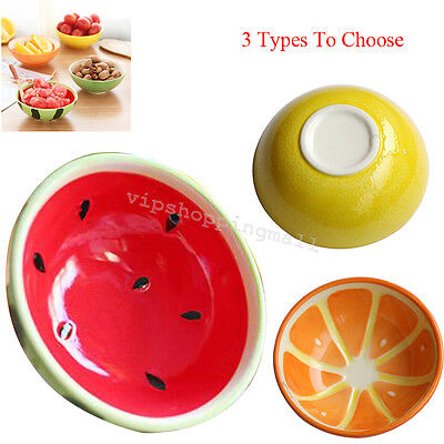 Cute Fresh Hand-painted Colored Drawing Fruit Bowl Salad Dessert Ceramic Bowl
