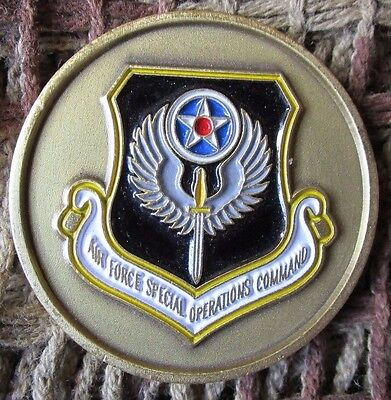 Us Air Force Special Operations Command Afsoc Air Commandos Challenge Coin. #1.