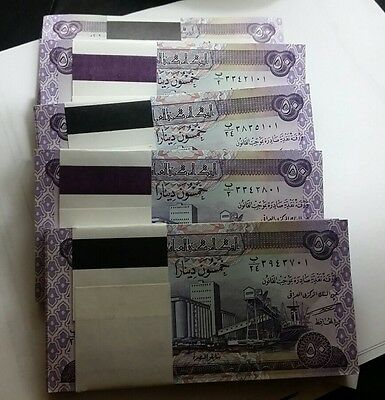 iraq 50 dinars 2003 one bundle