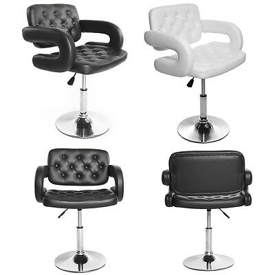 Black Leather Swivel Hydraulic Barber Chair Salon Hairdressing Styling Chairs