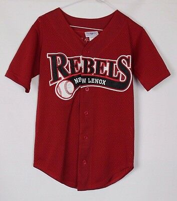 Redman #9 Vintage New Lenox Rebels Baseball Jersey Youths Medium Teamwork