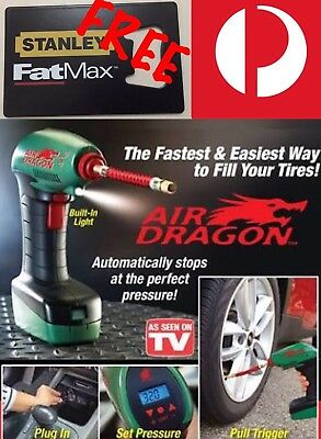 AIR DRAGON - Tire Air Compressor Original As Seen On TV - Car Tyre Pump