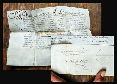 1578 Rudolf II. Czech Document Signed by the Kaiser Bohemica Pergament Urkunde