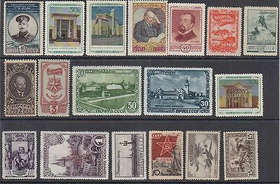 Russia, Soviet mint without gum stamps lot