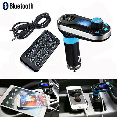 Bluetooth Car FM Transmitter MP3 Player Wireless Radio Adapter USB Charger New