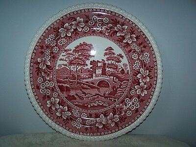 Spode Pink Tower 12 1/2'' Round Serving Platter / Charger In Excellent Condition