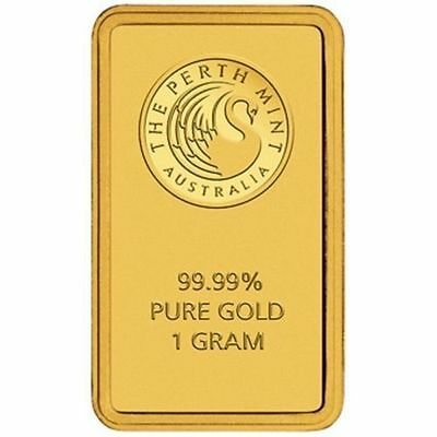 Perth Mint Gold 1g Minted Bullion Bar (Certicard) Great Gift